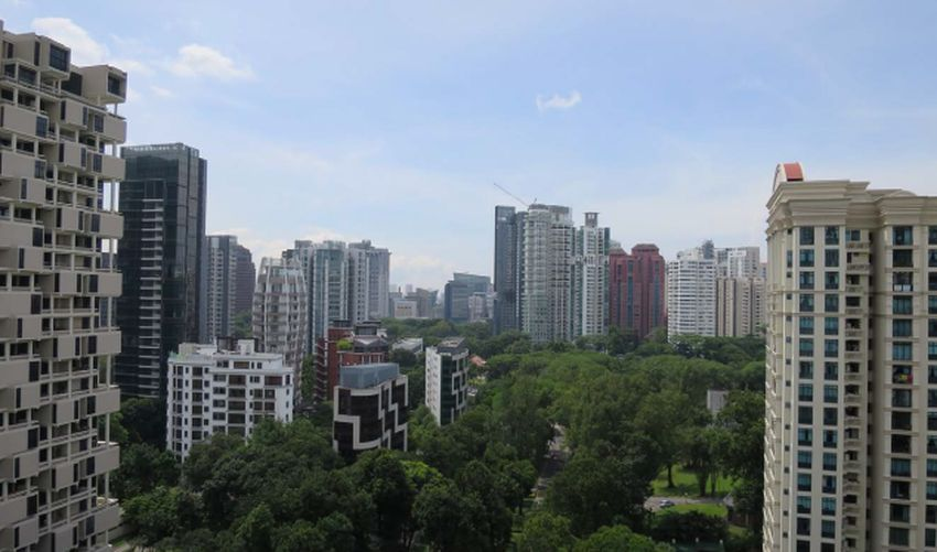 orchard road from 15th storey