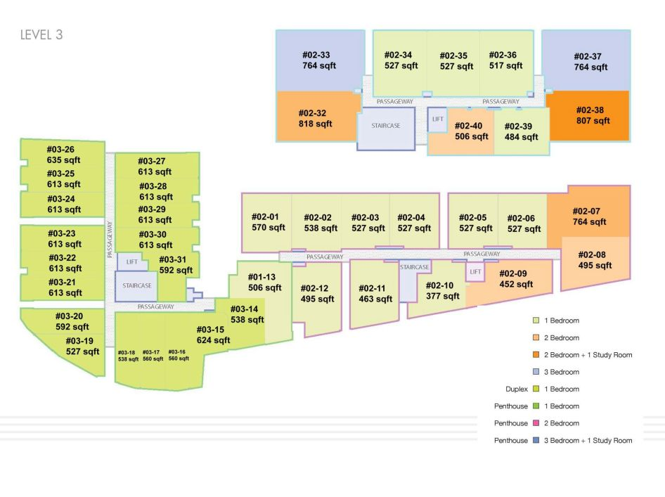 site plan unit no level 3
