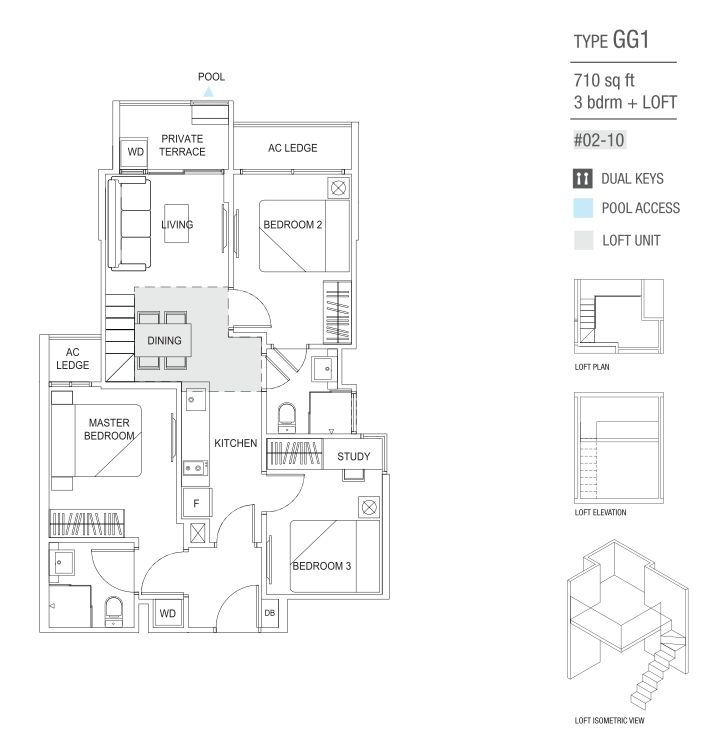 type GG1 3 Bedroom and loft
