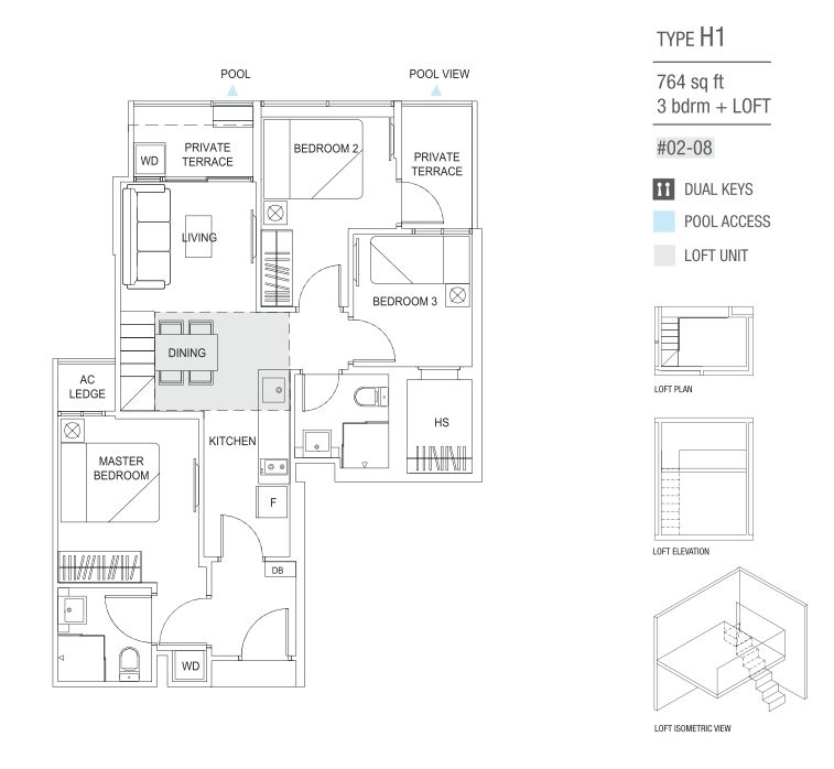 type H1 3 Bedroom and loft