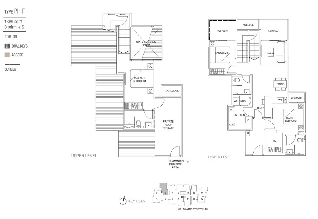type PHF 3 Bedroom and Study