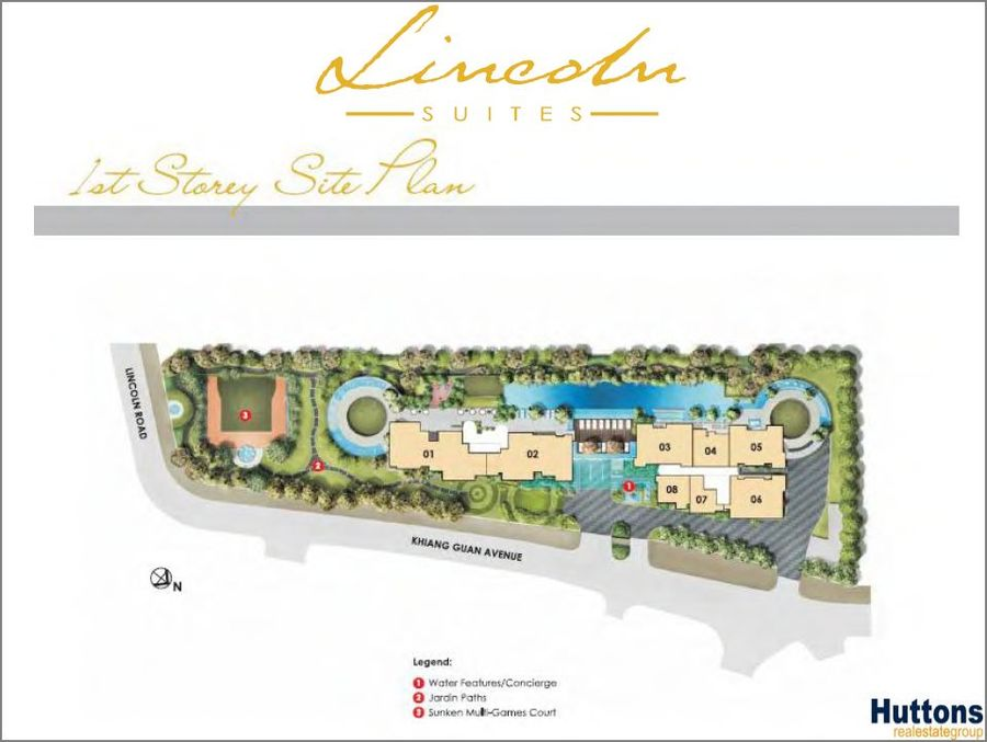 Lincoln Suites 1st StoreySite Plan 900