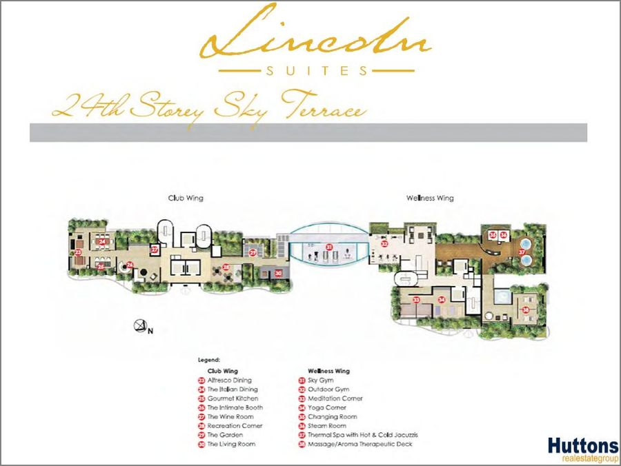 Lincoln Suites 24th storey Site Plan 900