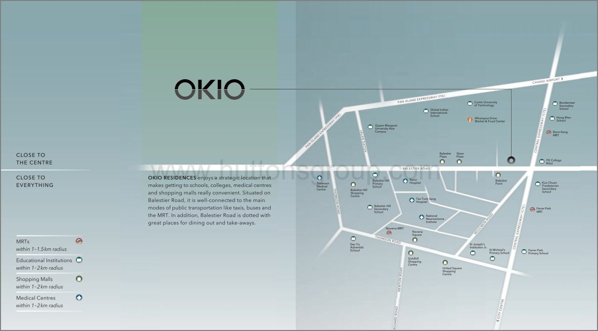 OKIO Residences Location