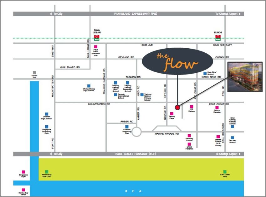 The Flow Location Map 850