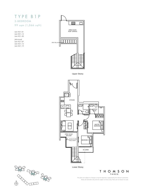 Thomson Three 1-bedroom unit type B1P