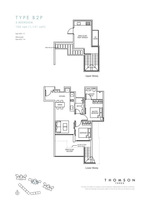 Thomson Three 2-bedroom unit type B2P