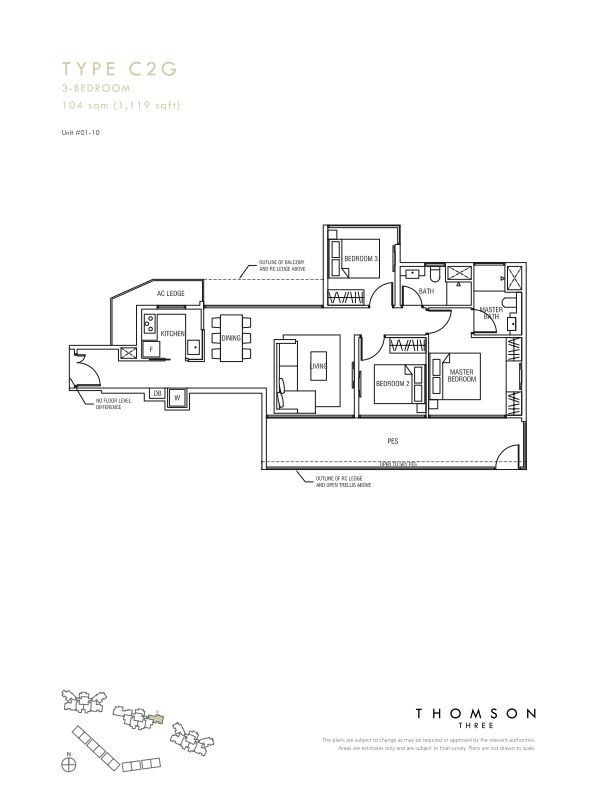 Thomson Three 3-bedroom unit type C2g