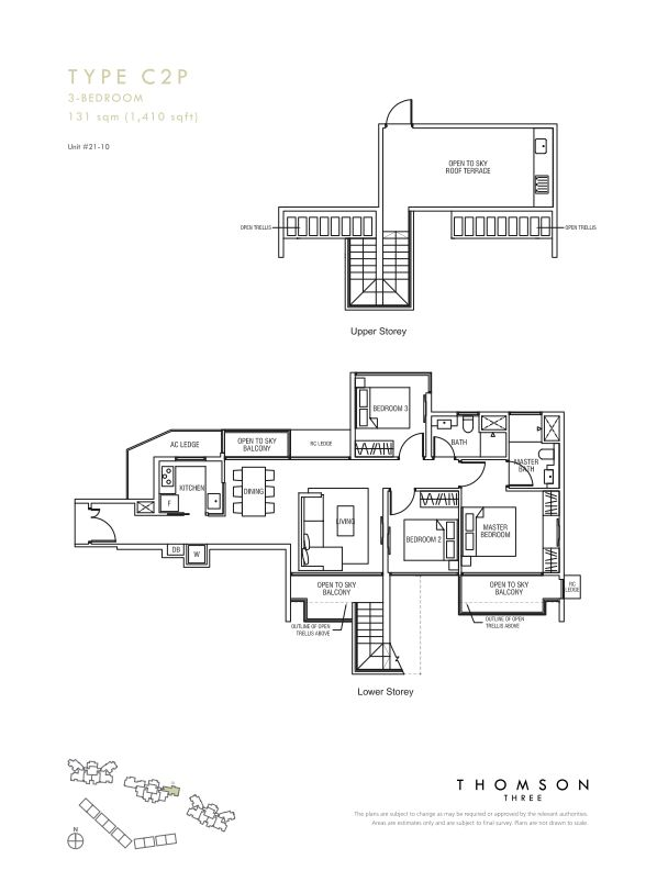 Thomson Three 3-bedroom unit type C2p