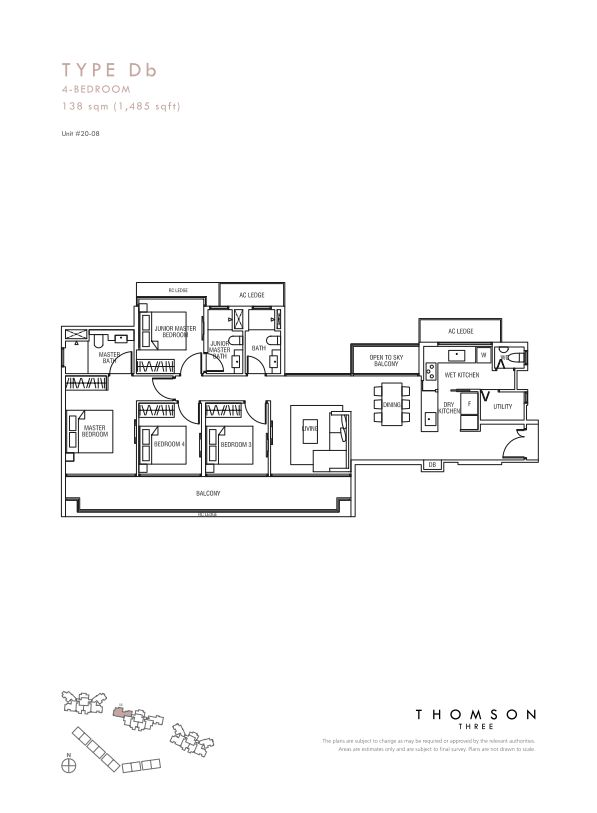 Thomson Three 4-bedroom unit type Db