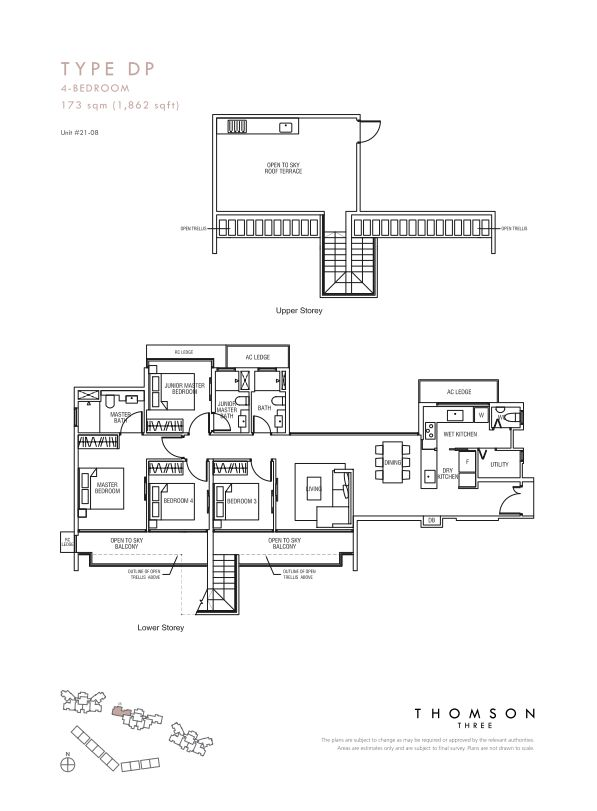 Thomson Three 4-bedroom unit type Dp