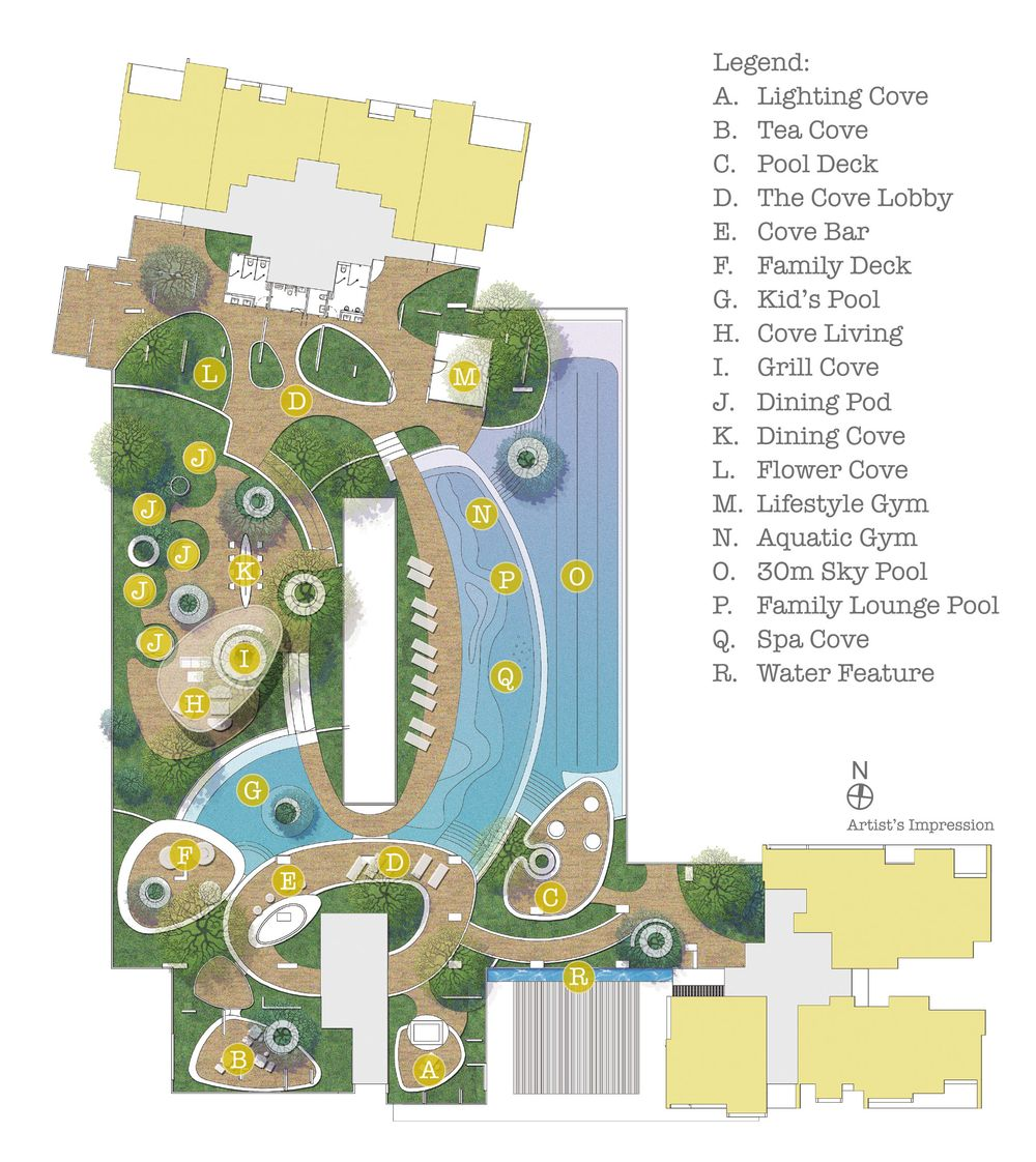 Site Plan - Cove Living  Level 4