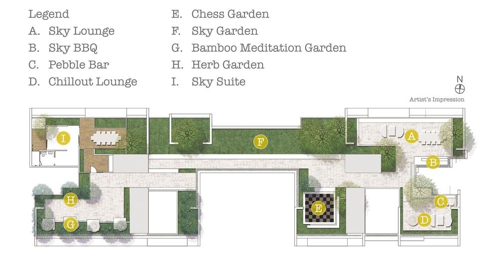 Site Plan - Sky Living  Roof Terrace
