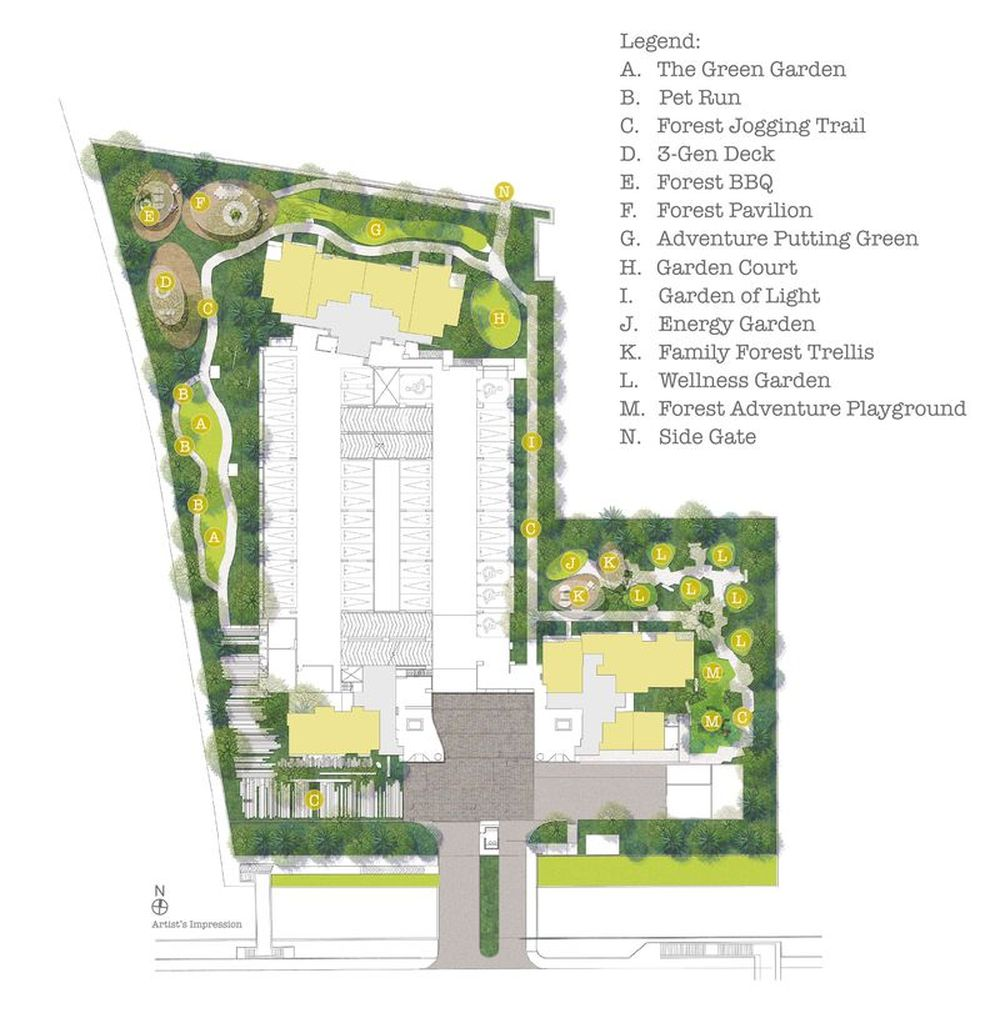 Siteplan -  Garden Living  Level 1