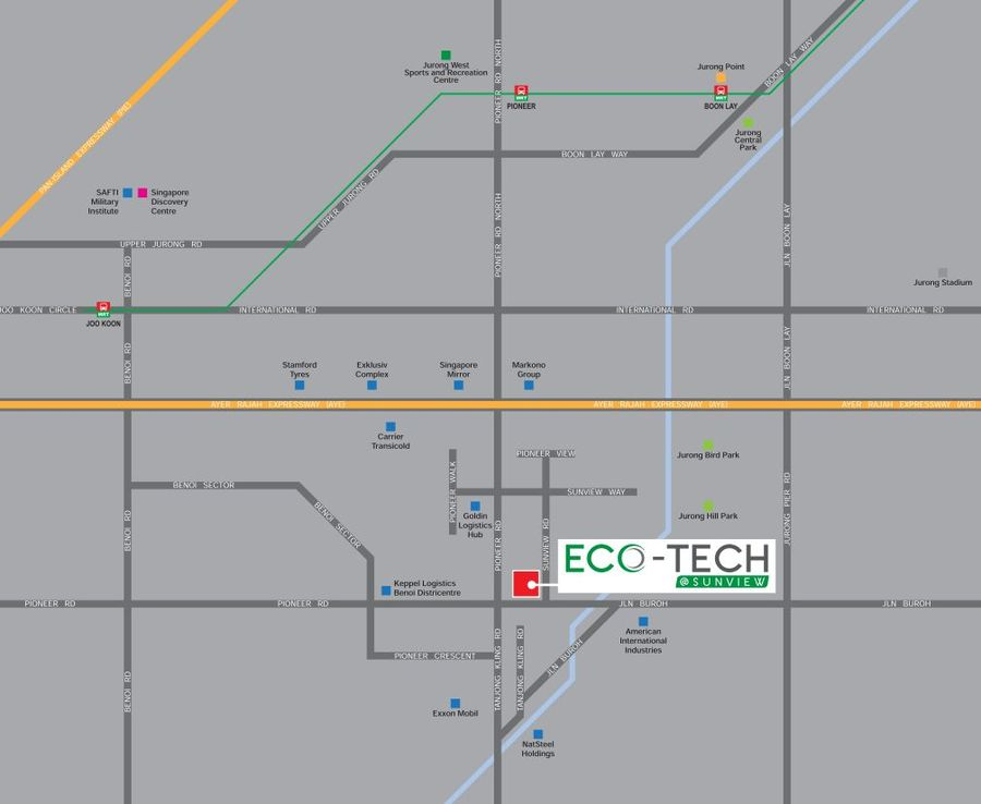Eco-tech location map