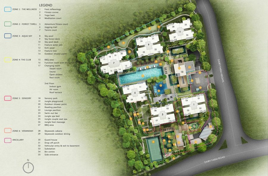 The Skywoods Site Plan 900